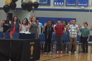 Beta Club Officers are Inducted