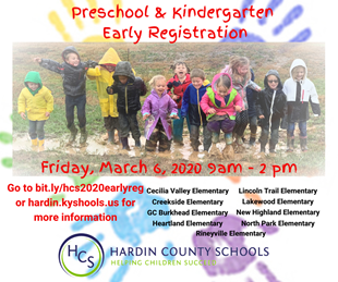 early registration for preschool and kindergarten 2020