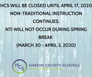 CLOSED THROUGH APRIL 17