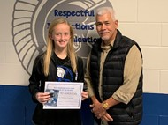 7th Grader Karlee Adkisson and Rick Skeeters