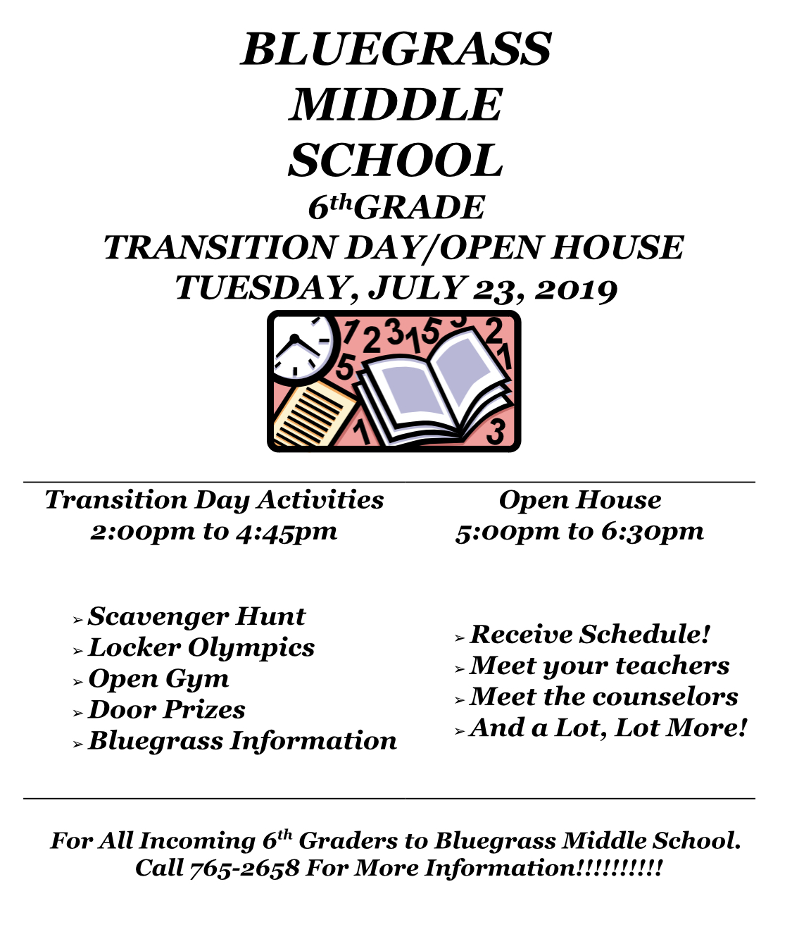 Transition Day/Open House