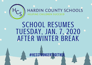 SCHOOL RESUMES AFTER WINTER BREAK linked image