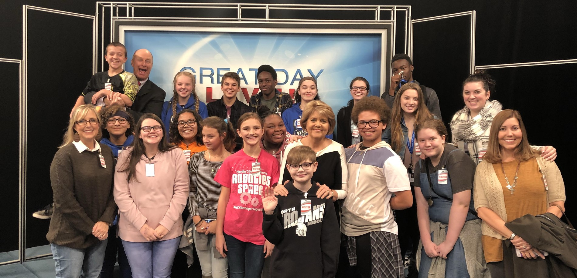 NMS and NHHS News Crews with Terry Meiners and Rachel Platt from WHAS 11