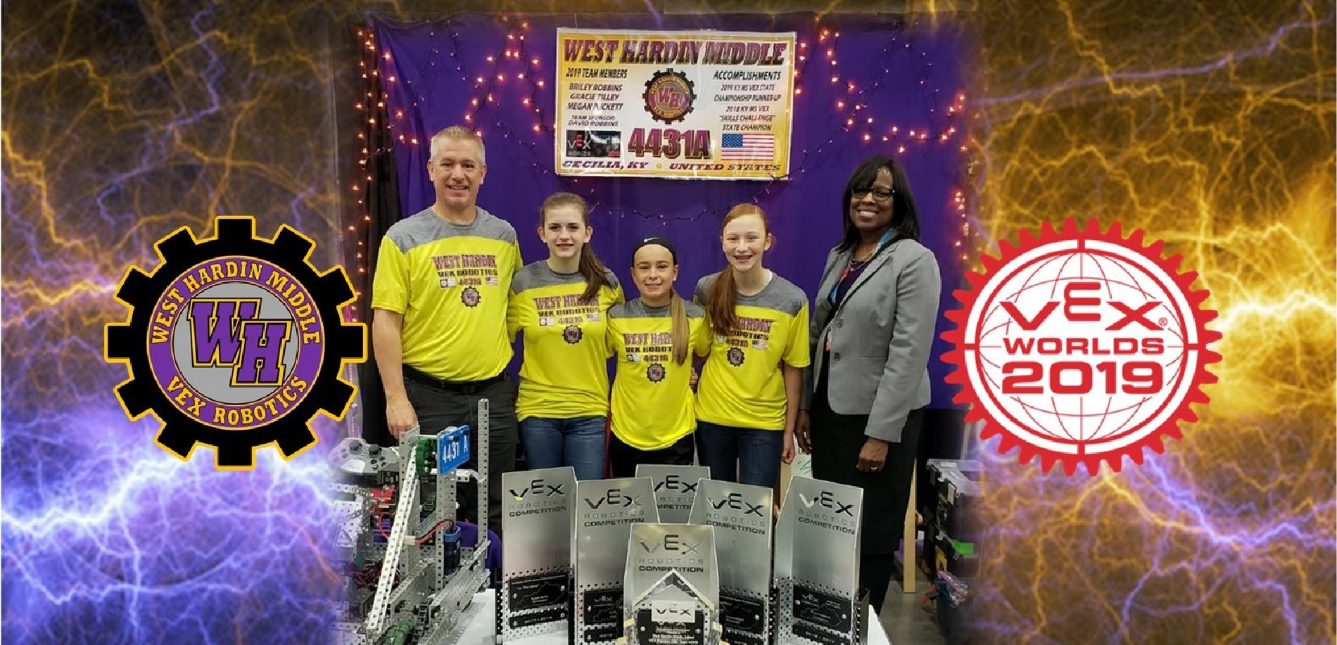KY Lieut. Governor Jenean M. Hampton visits West Hardin at the 2019 VEX World Championship!