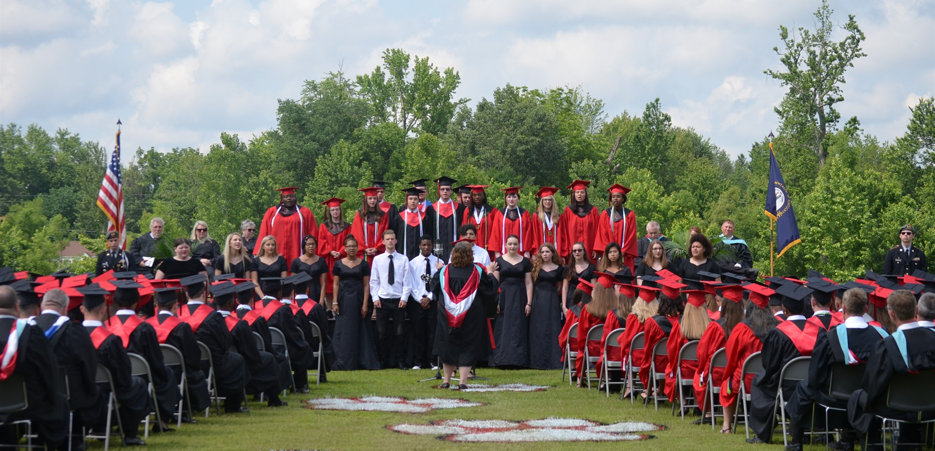 The John Hardin High School choir performed at the JHHS graduation ceremony.