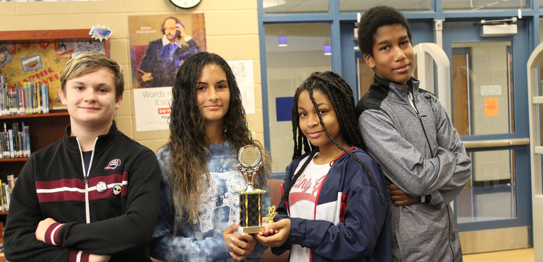 The SuperNova Superstars (Gabe Cooper, Olivia Maldonado, Christen Lett, and Kenneth Richie) won 3rd place (out of 28 teams) in the teamwork division of the HCS Lego Robotics Competition!