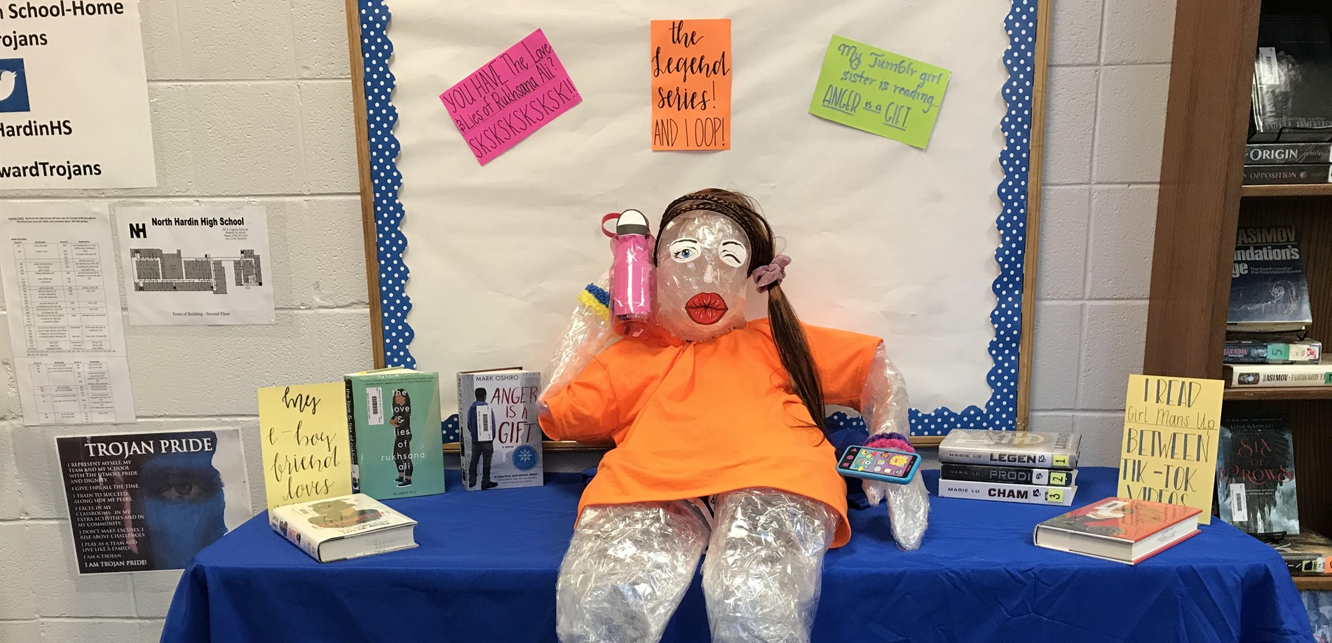 Visco girl promotes books in LMC