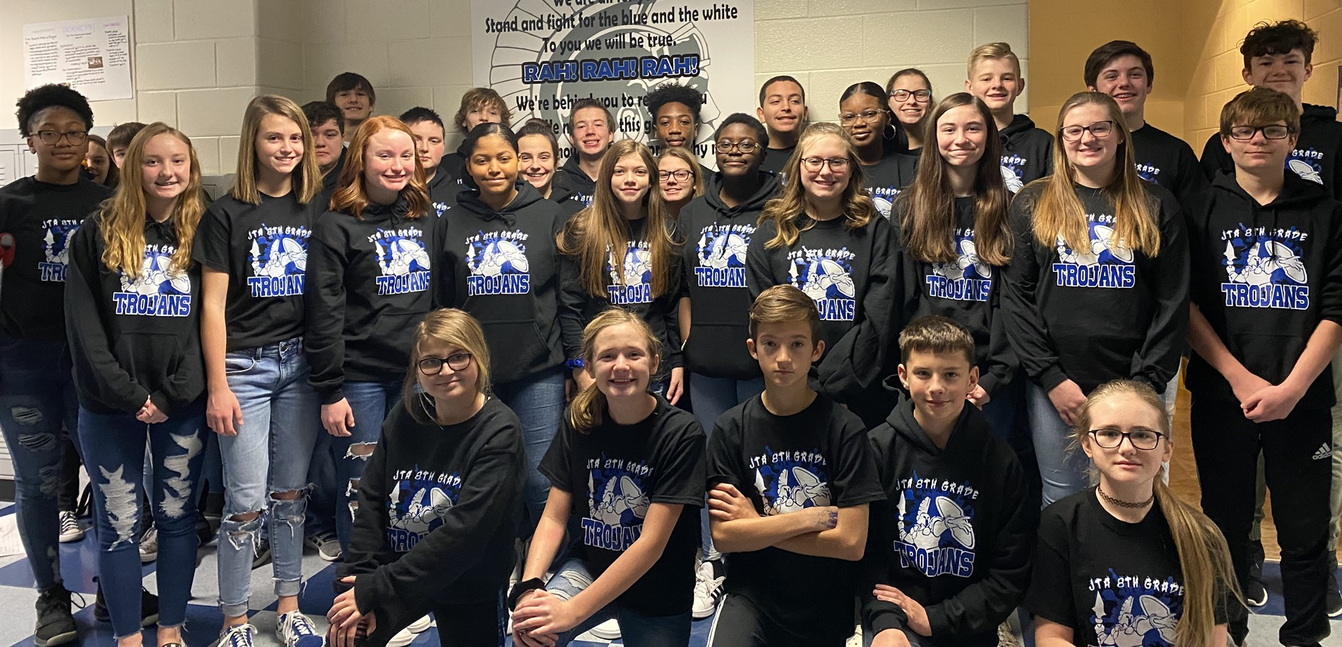 8th Grade Guardians of the Galaxy with their Class Shirts
