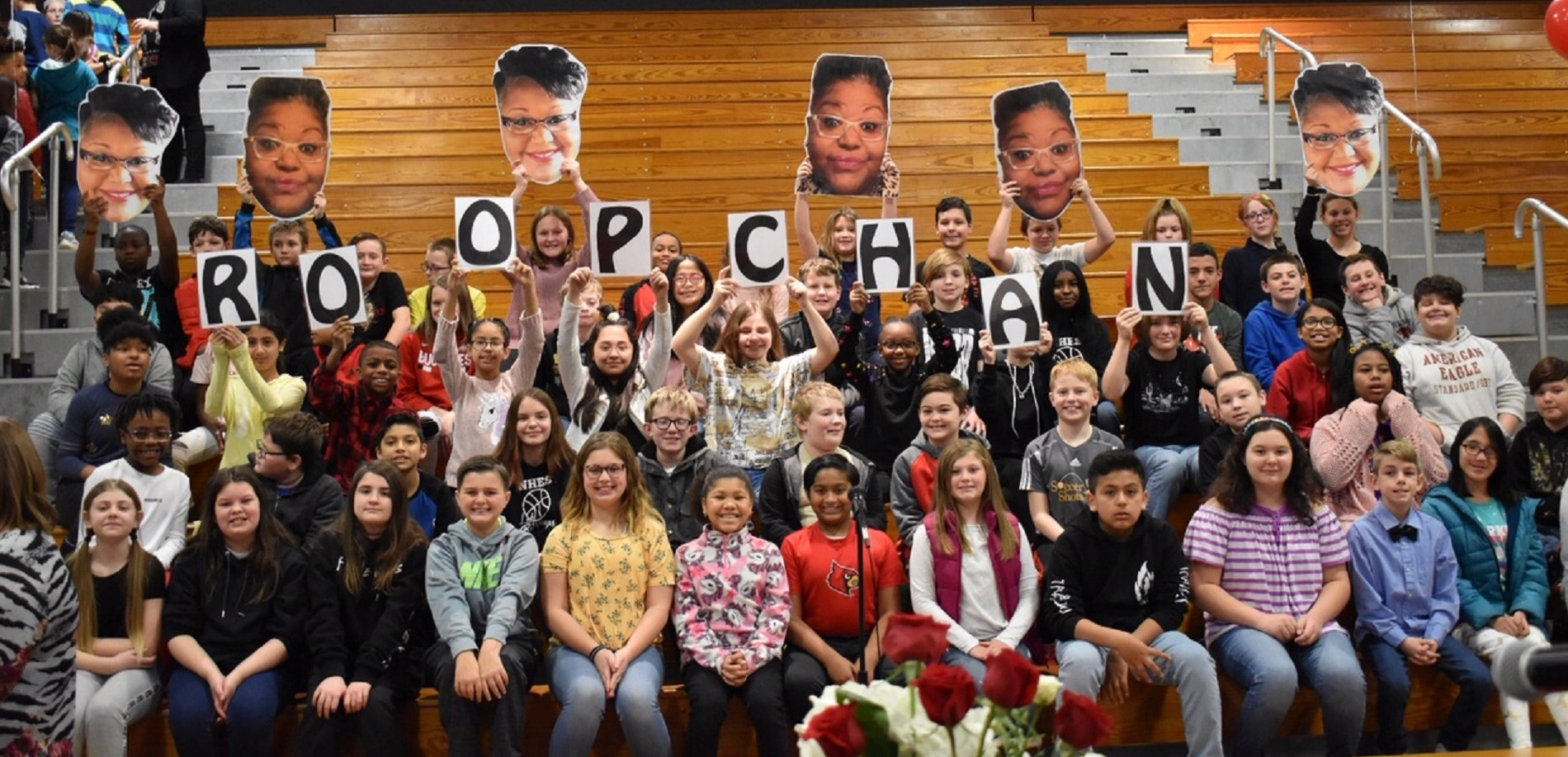 5th Grade Celebrates Ms. Roopchan