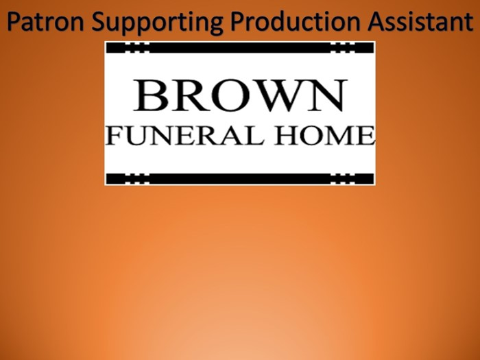 Thanks to Brown Funeral Home for their Sponsorship!