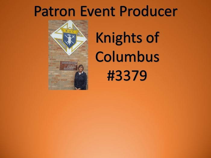 Thanks to Knights of Columbus #3379 for their Sponsorship!