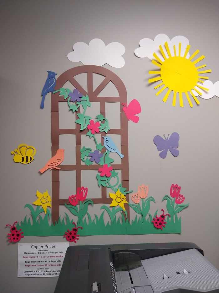 The Variquest Cut-Out Maker can create beautiful scenes for your classroom!