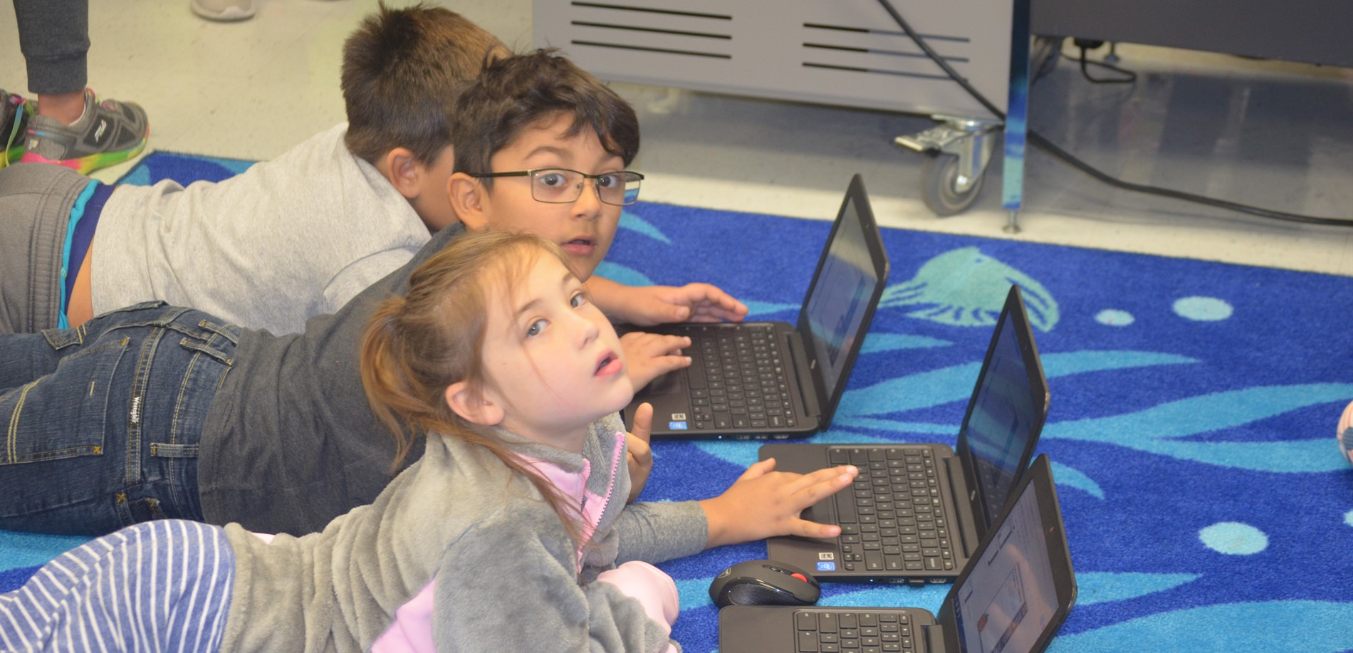Students using Chromebooks in Class