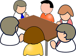 people meeting around a table