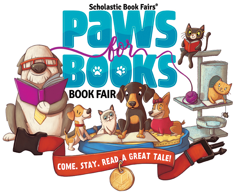 Scholastic Paws for Books Logo
