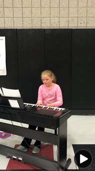 Student Plays Piano