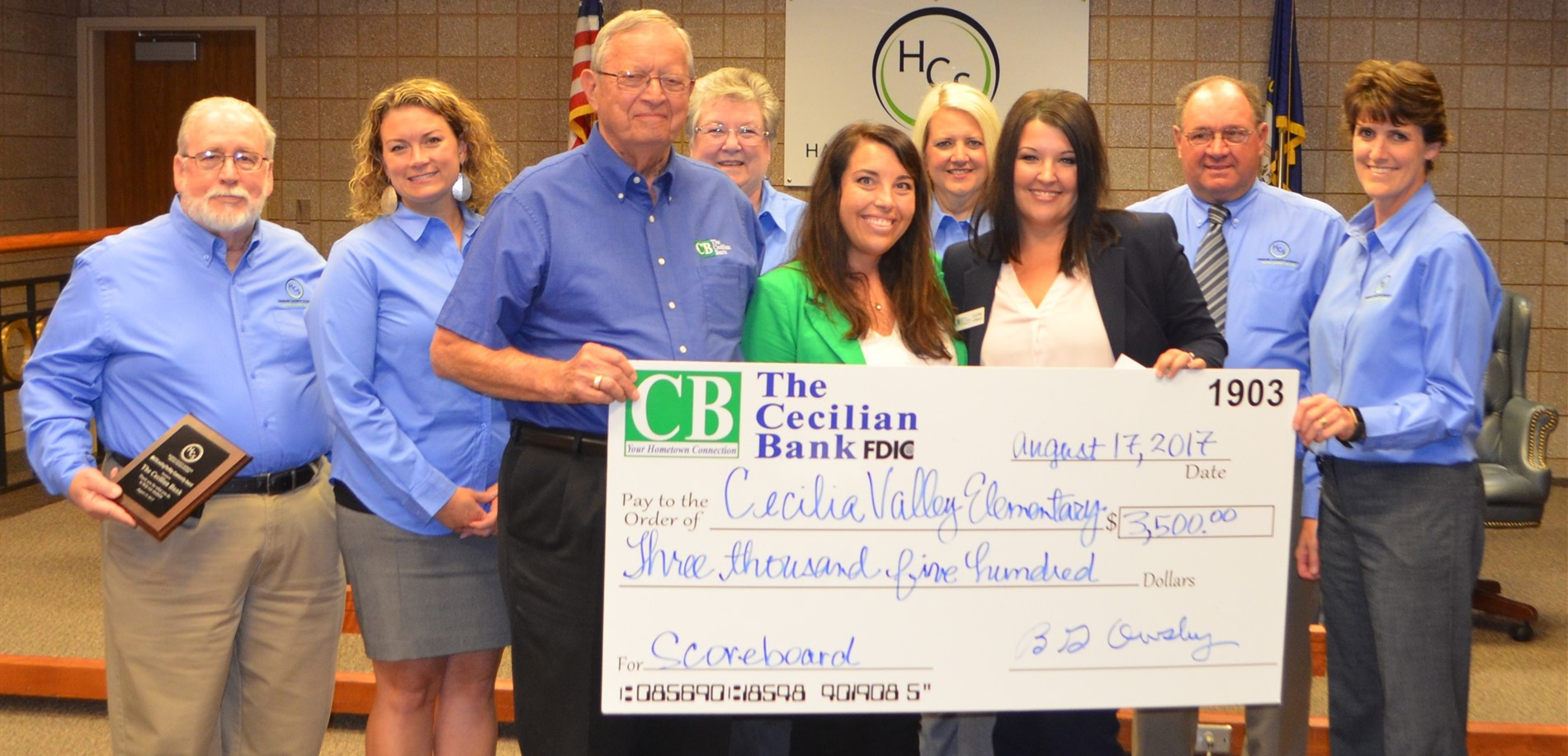 Thank you Cecilian Bank for your continued support of our students and staff.