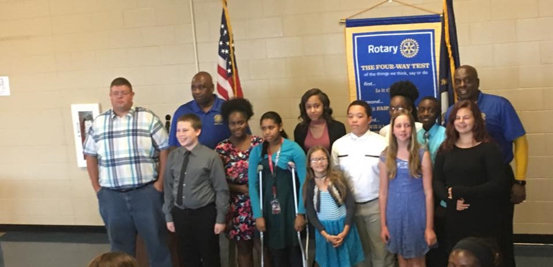 Mr. Gibbs and his outstanding JLC Elite becoming a part of The Interact Club.