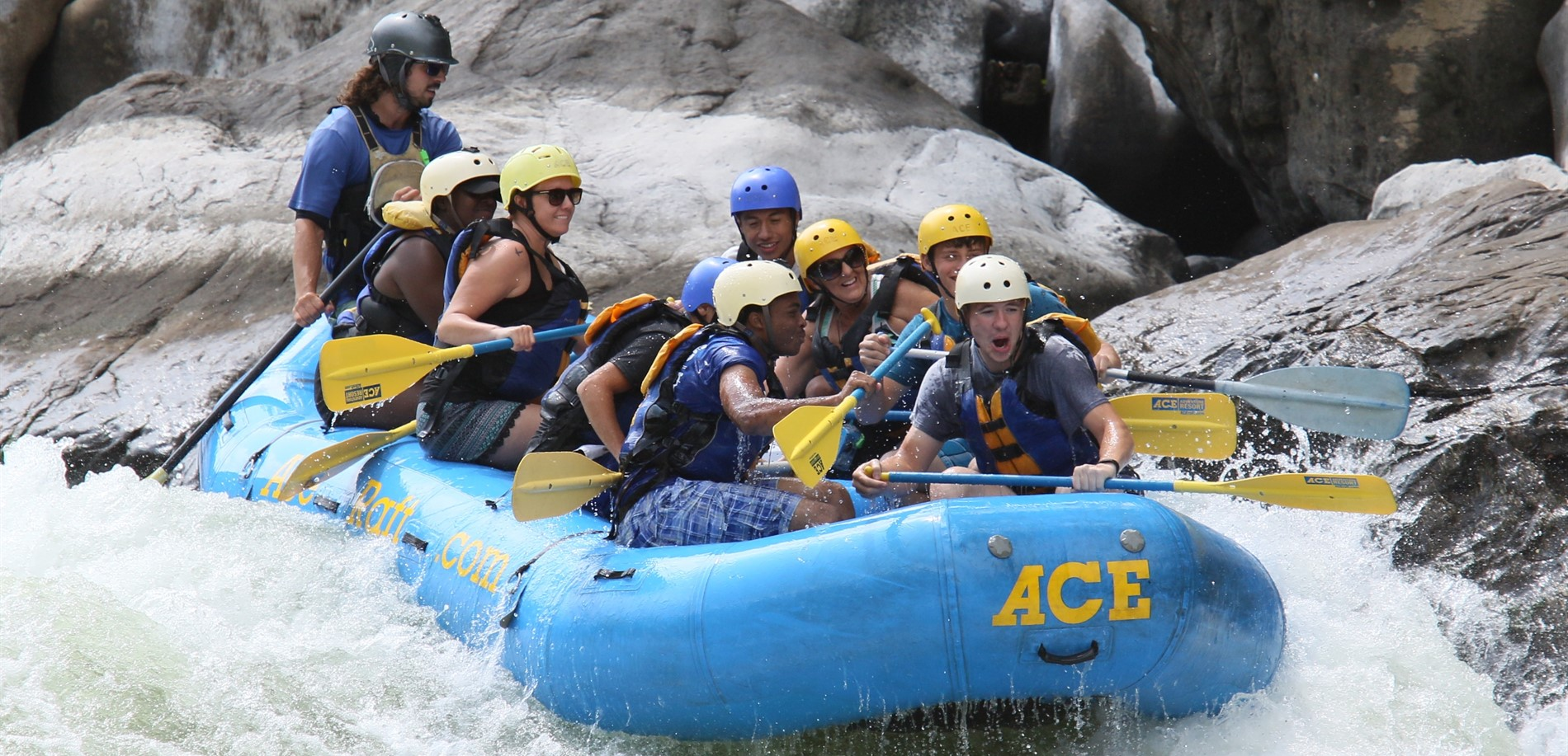 NHHS JROTC senior leaders learned team building skills while whitewater rafting.