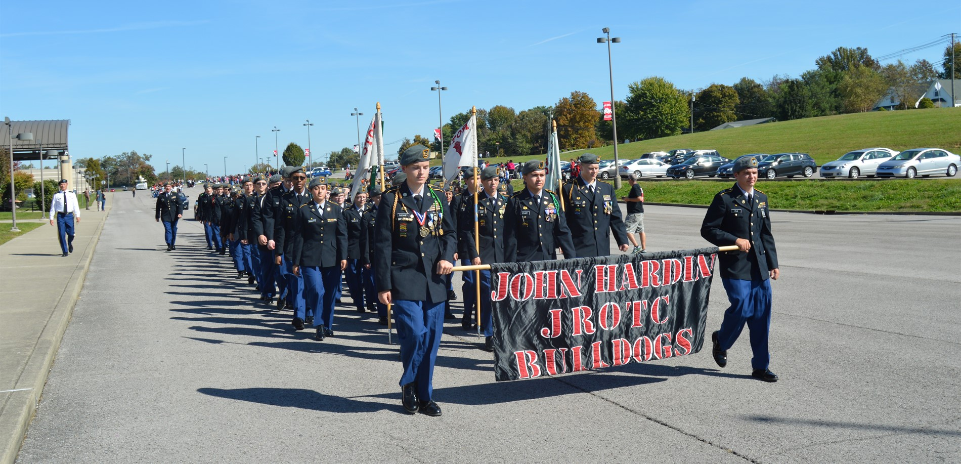 JROTC Cadets in Homecoming Parade