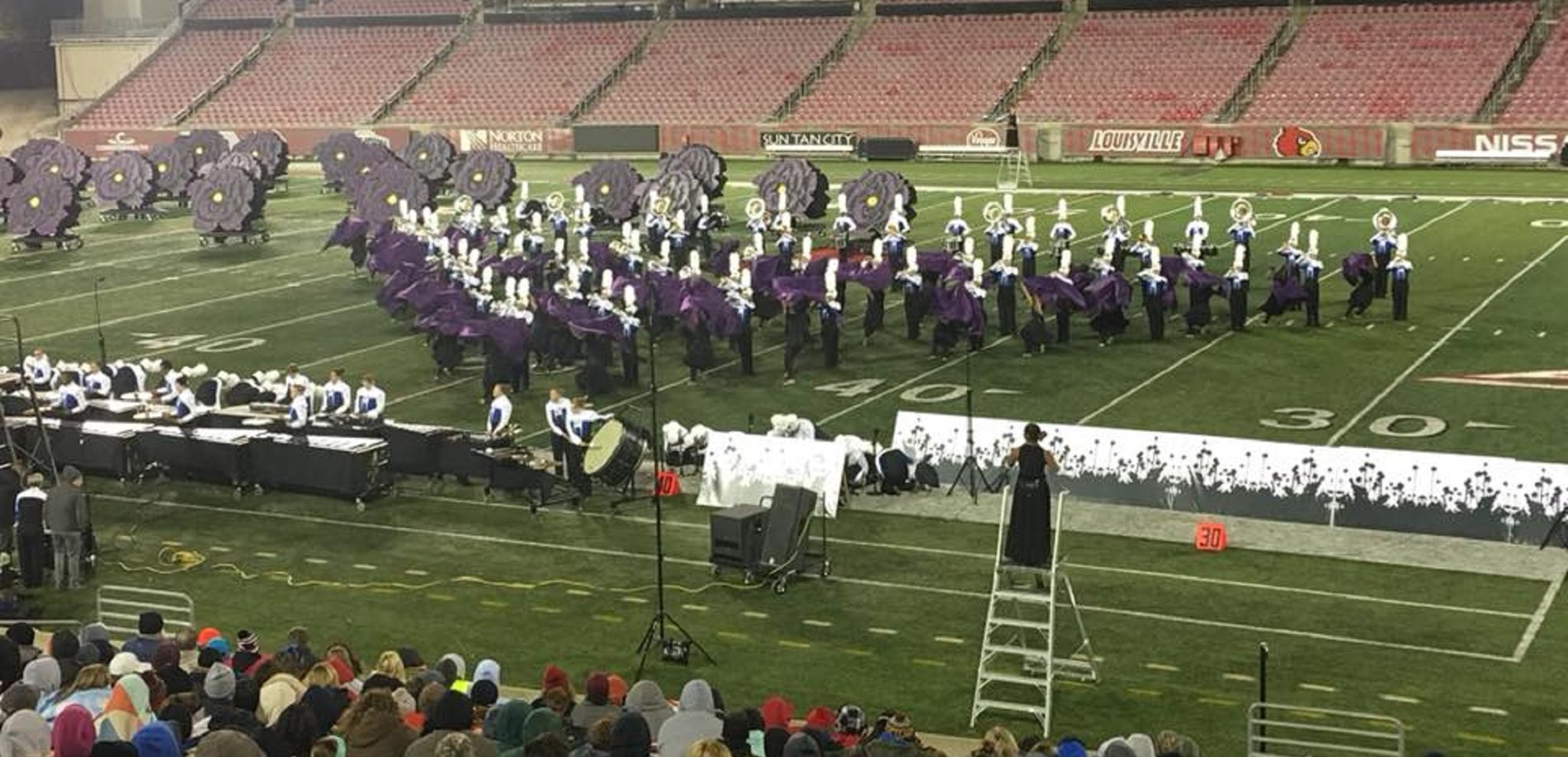 The North Hardin High School band was the state runner-up at the KMEA championships.