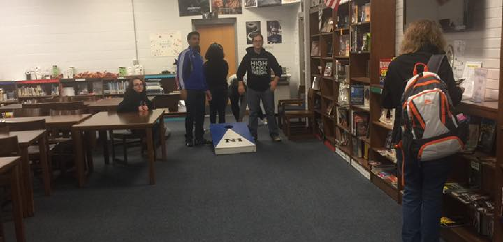 We celebrated Games Week with cornhole!