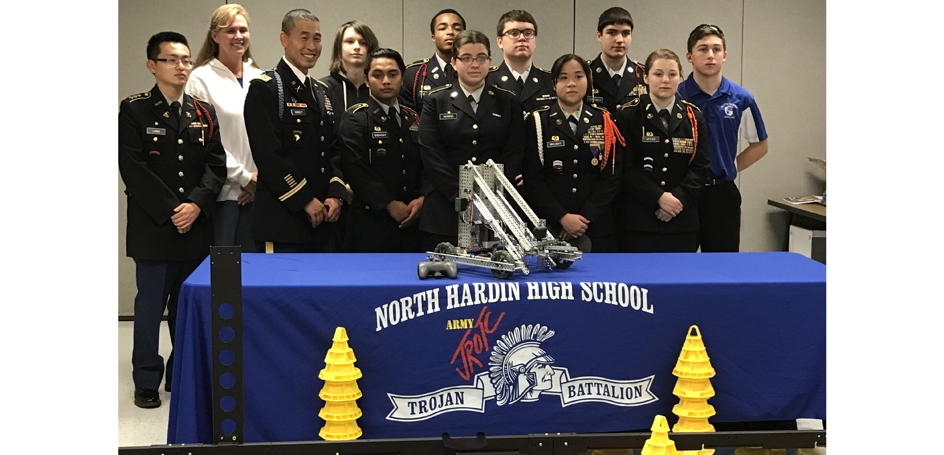 Cadet Command makes donation to PLTW/JROTC