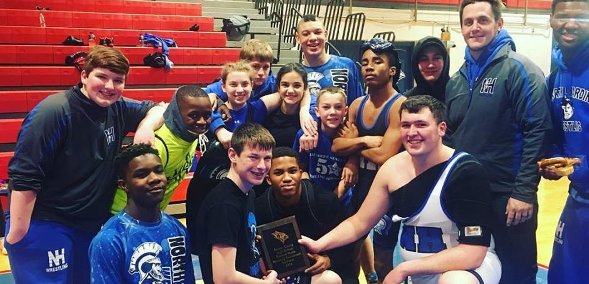 Wrestlers place 1st at Nelson Co.!