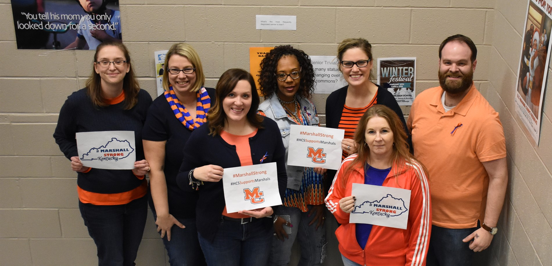 JHHS staff support Marshall County High School #Marshallstrong