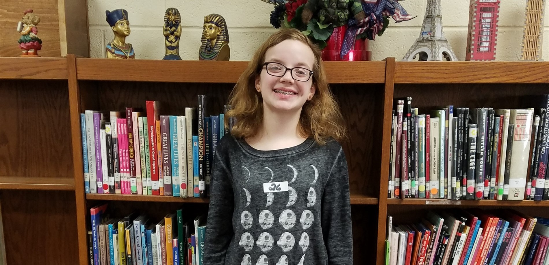 EHMS has the district spelling bee champion!  Emma Tharpe