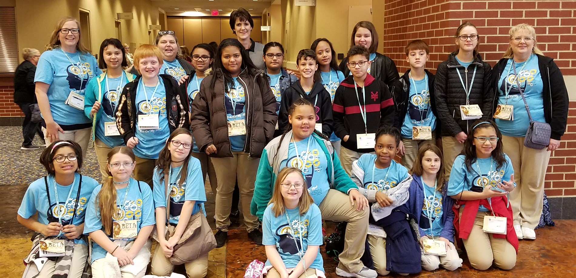 The New Highland Elementary School BETA Club was prepared for state competition.