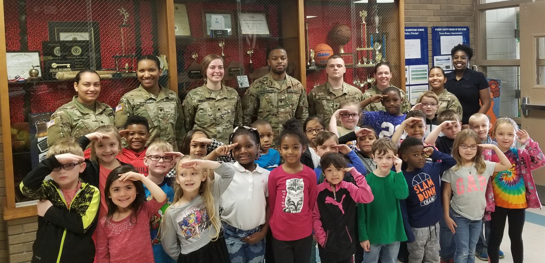 New Highland Elementary School welcomed some American heroes to discuss how a strong work ethic is critical to success.