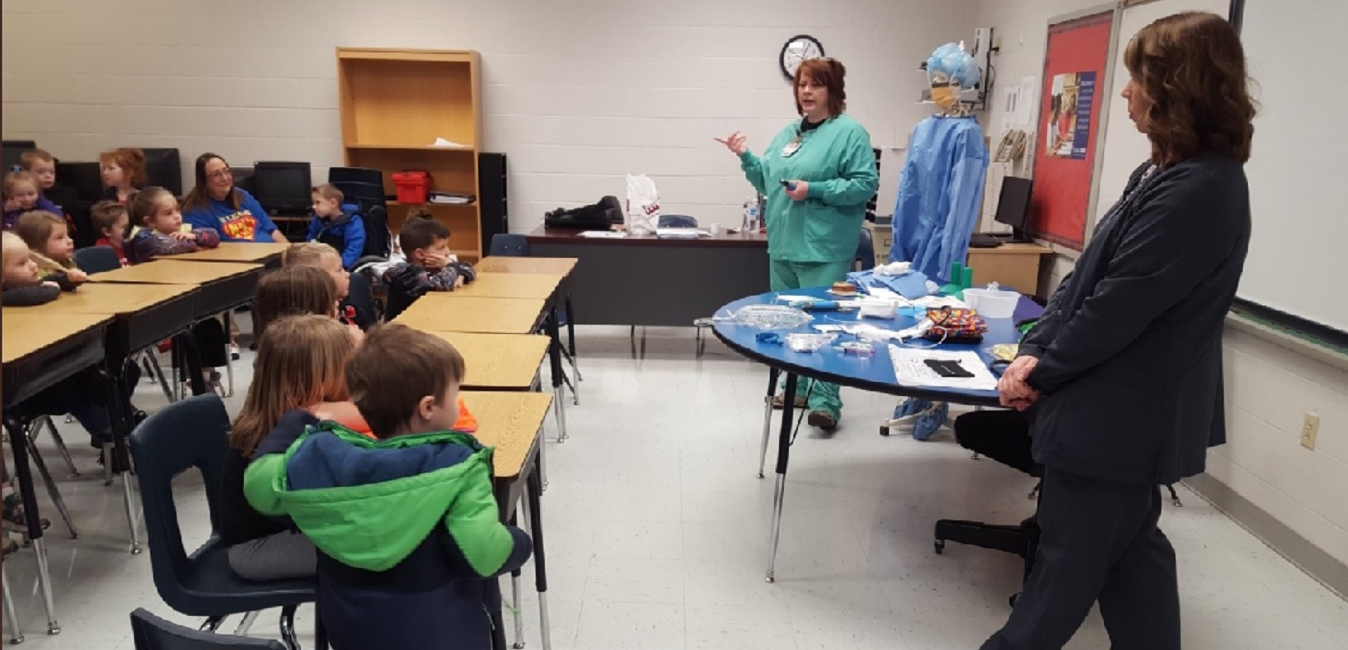 Creekside Elementary School students learned about various job opportunities during Career Day.