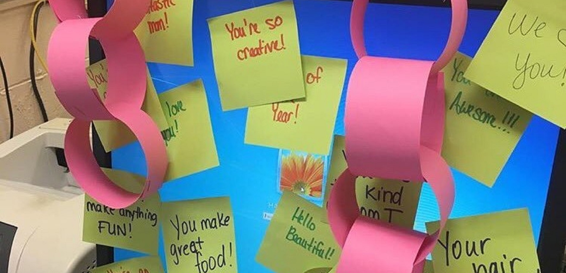 Lincoln Trail Elementary School students left positives messages for their teachers.