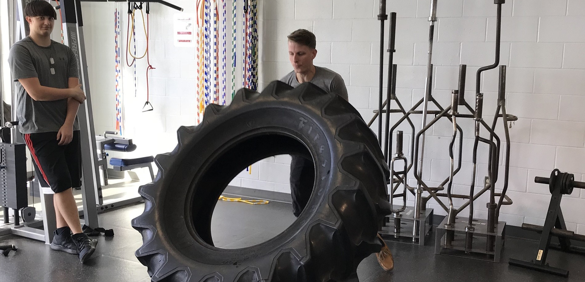 Tire Flipping in the Weight Room