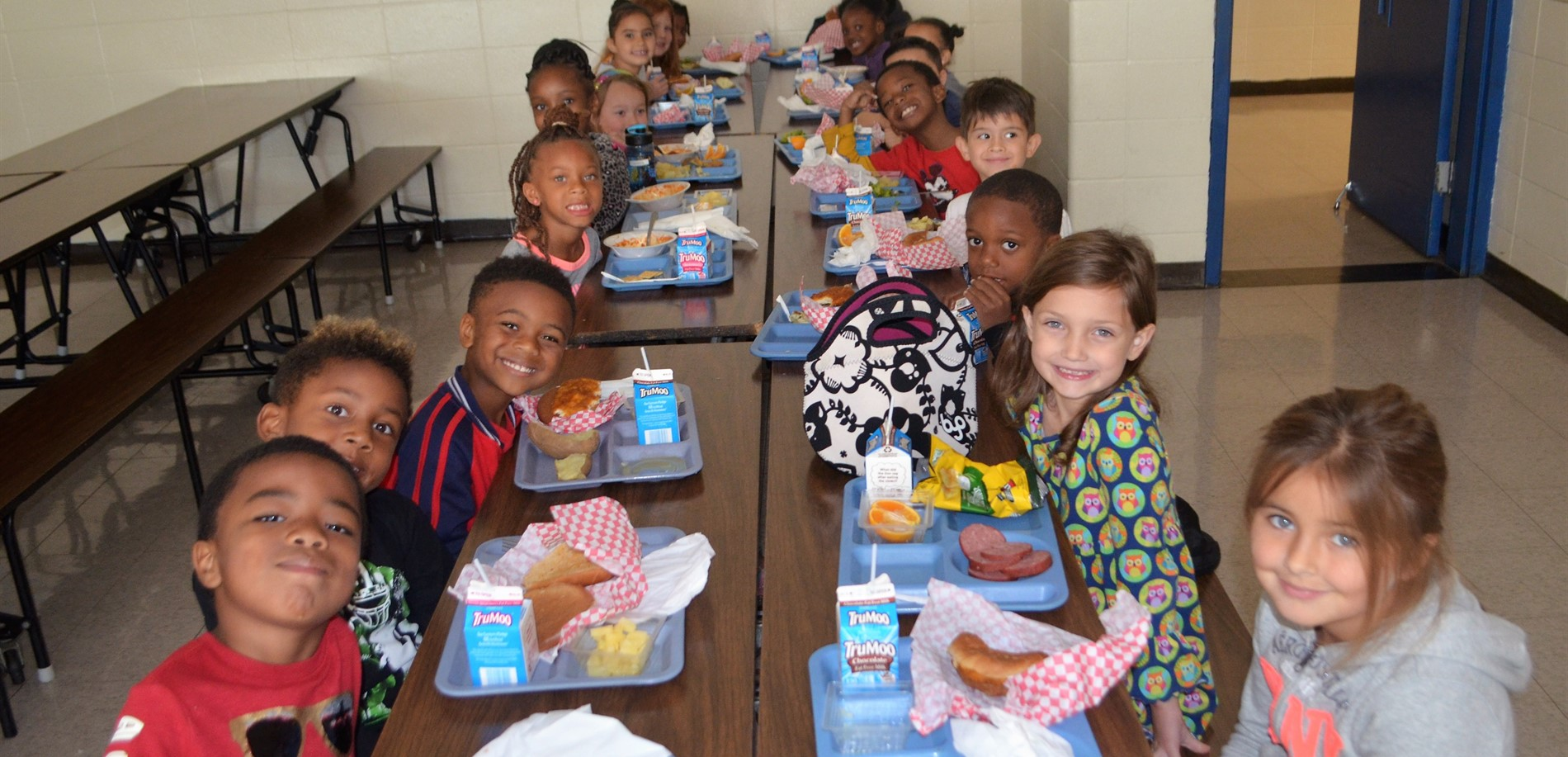 These Meadow View Elementary students ate a nutritious lunch.