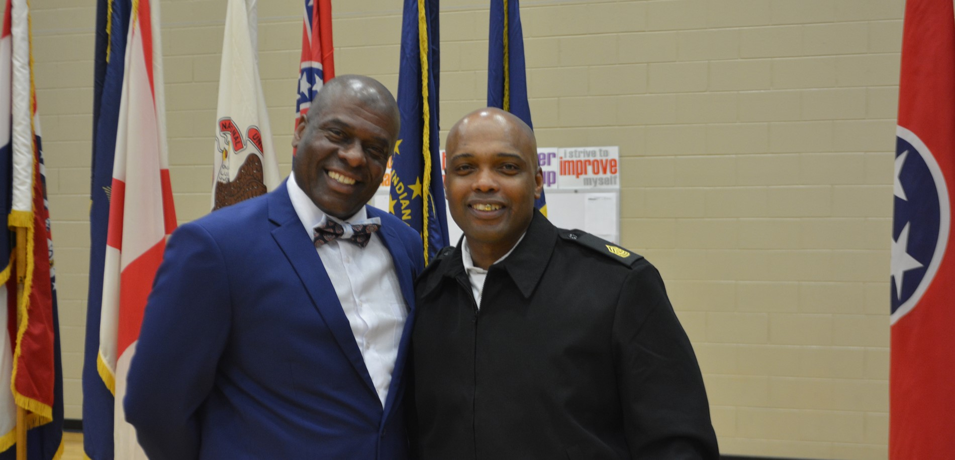 Mr. Gibbs and guest speaker Sergeant Major Garrick Griffin