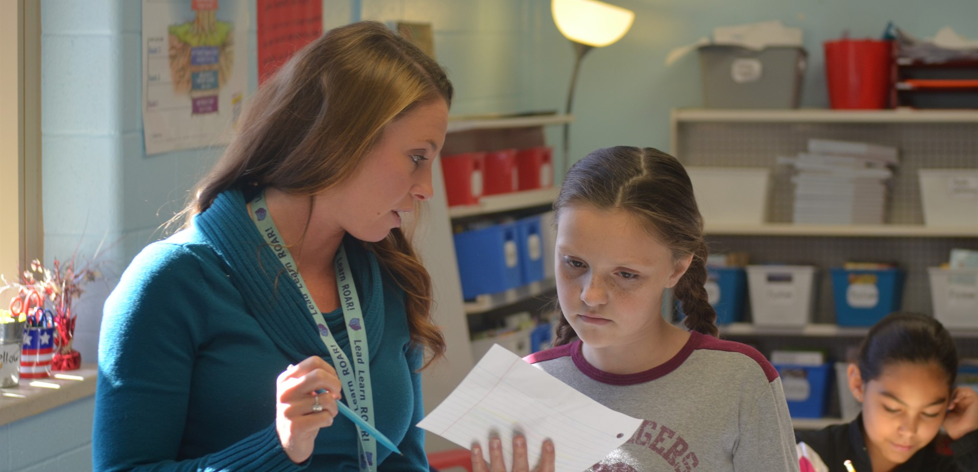 Ms. Marcum and her Lakewood Elementary students were working on a recent project.