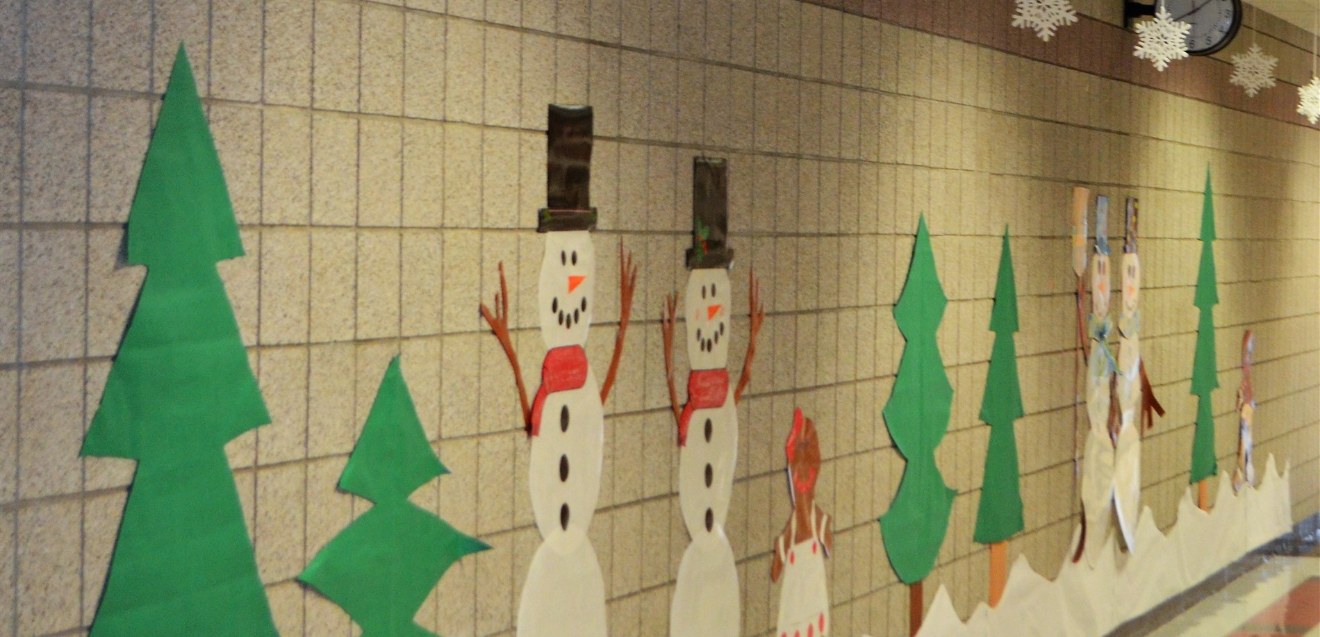 The halls of Heartland Elementary are truly ready for winter.