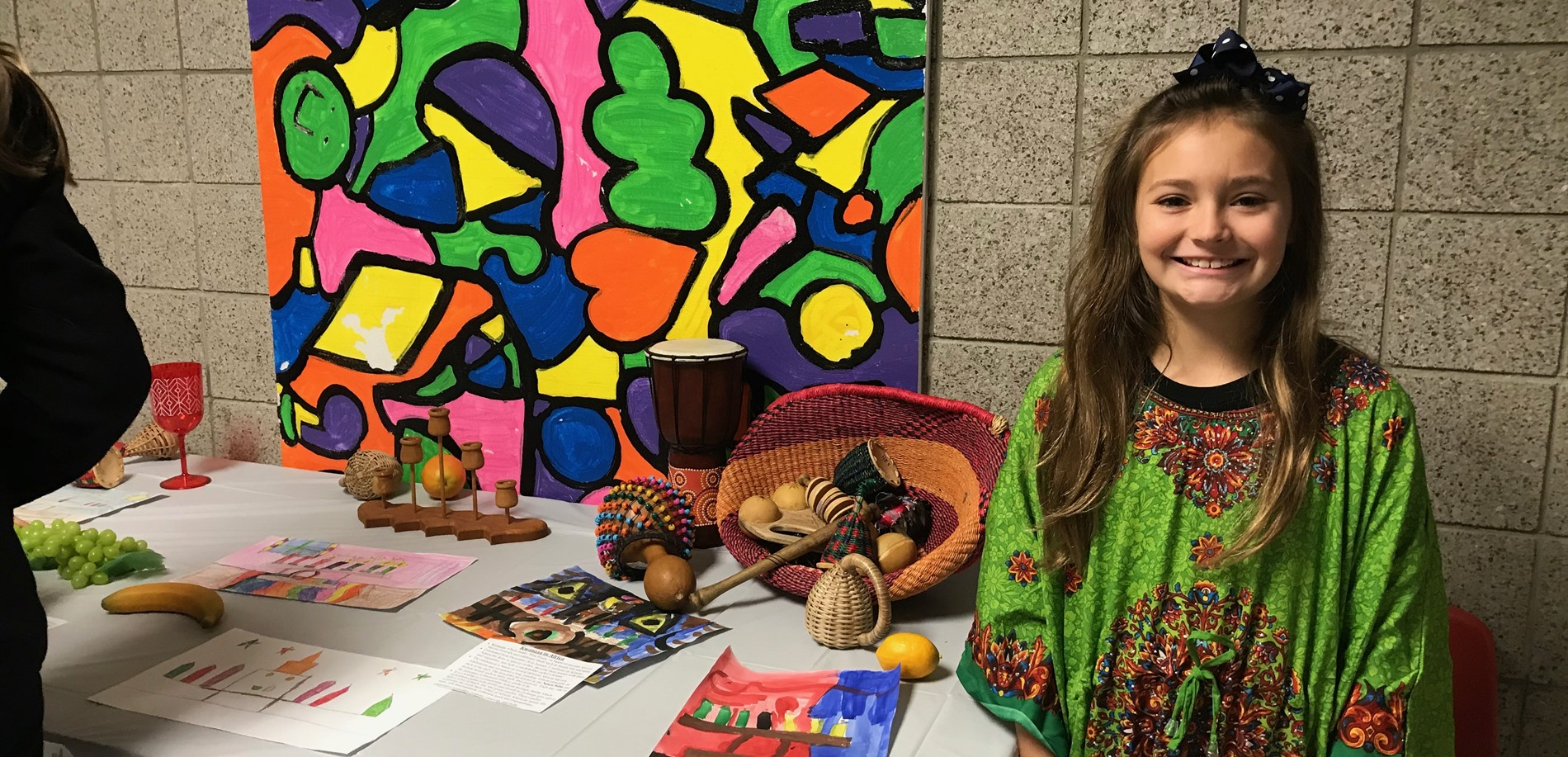 4th Graders Present an Art Show with Holidays Around the World