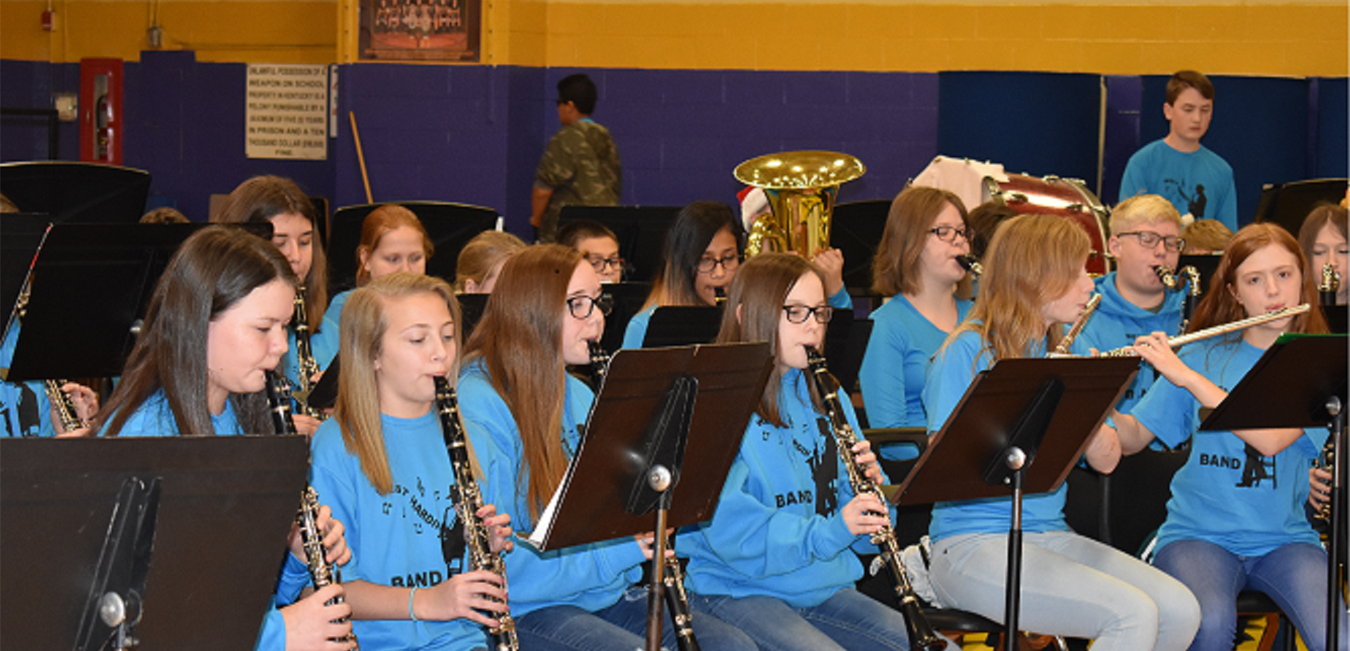 The WHMS Band Performs at the School Winter Program