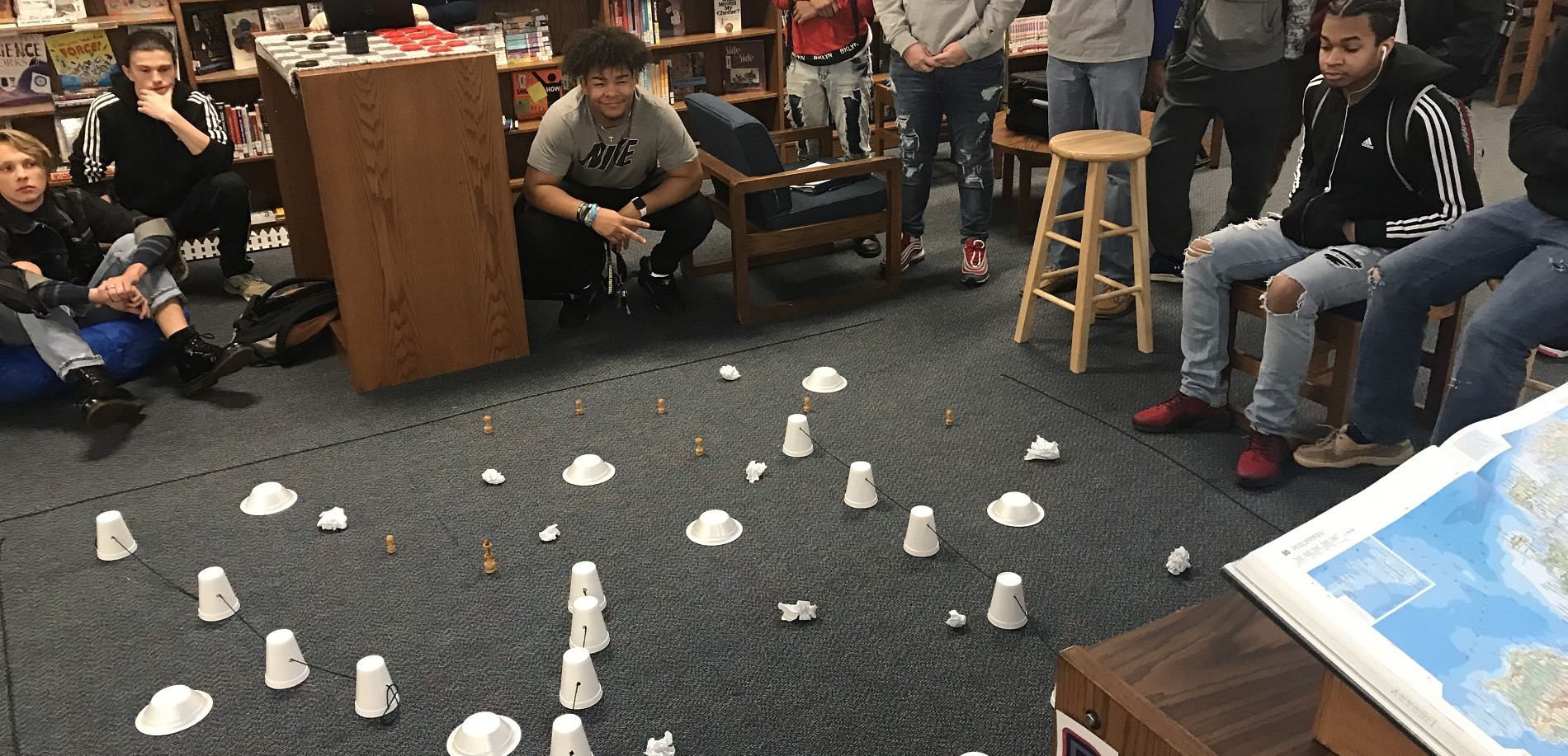 US History Sphero battlefield with Ms. Chancellor