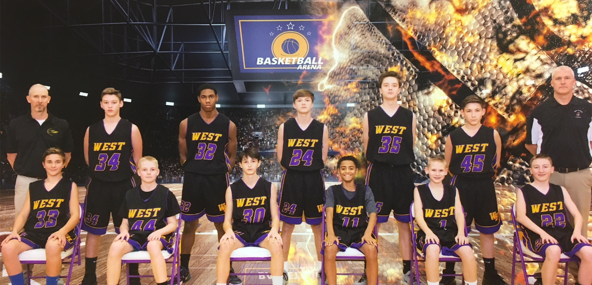 2018-2019 WHMS 8th Grade Boys Basketball - Image Courtesy: Capture Creative Images