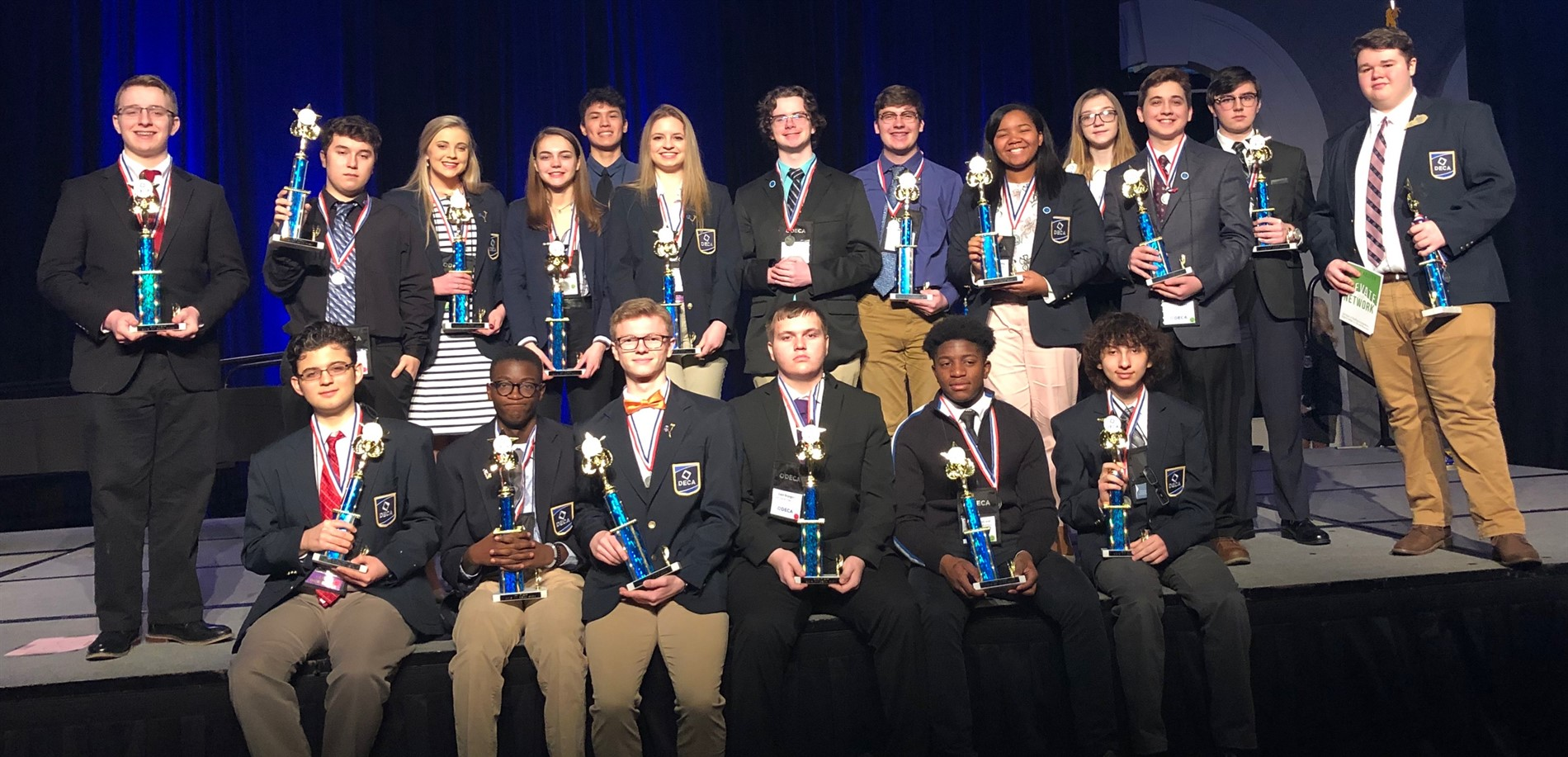 JHHS DECA students won BIG at DECA State. 17 members qualified for the international convention which will be held in Orlando, FLA.