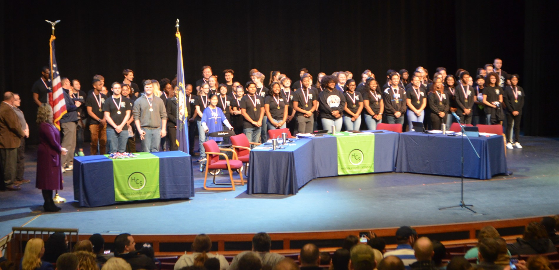 The North Hardin Band was recently recognized at a Board of Education meeting.