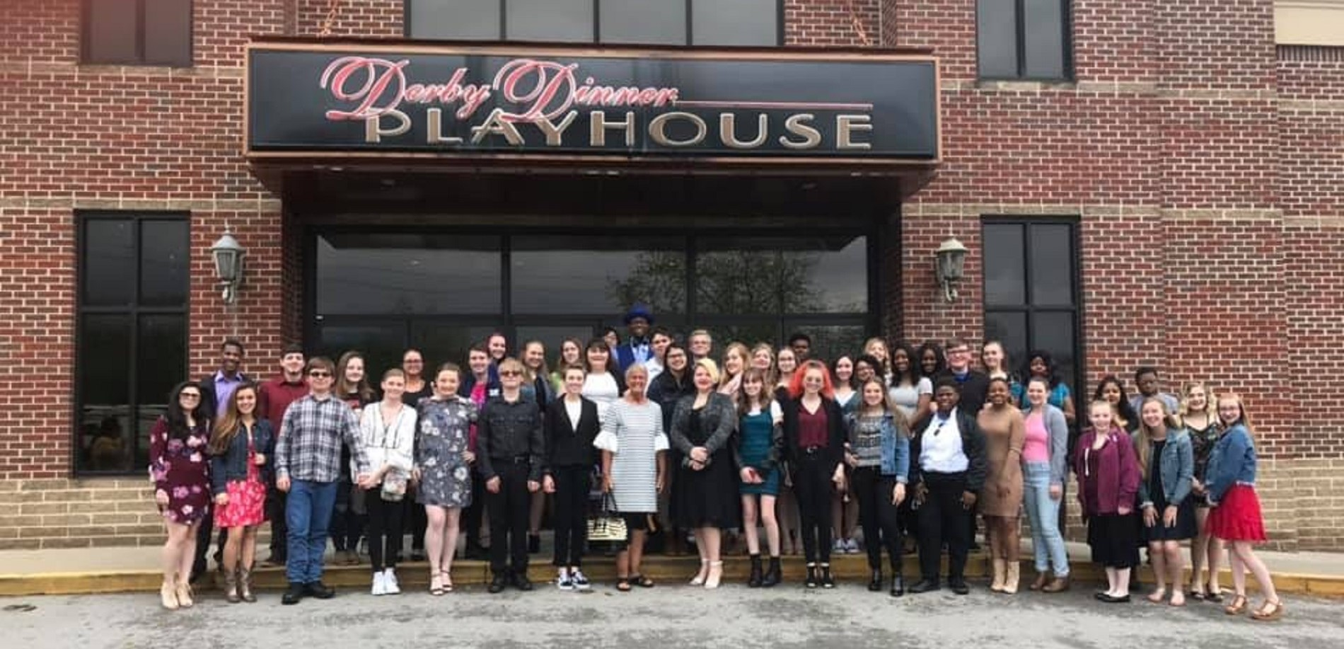Ms. Root and the choir attend the show Newsies