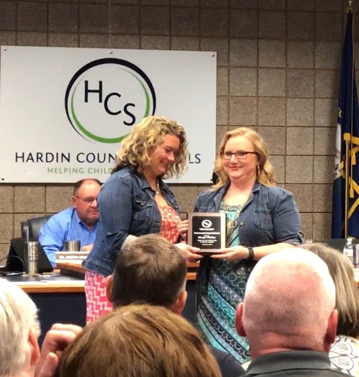 Congratulations to our Media Specialist, Mrs. Margie Findley on receiving the HCS Leading the Way Award!