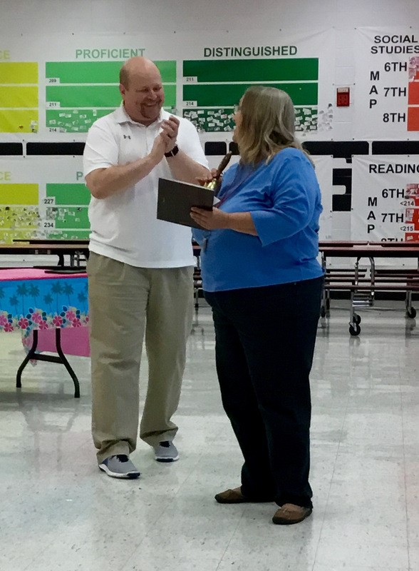 Ms. Emberg recognized for years of service and retirement