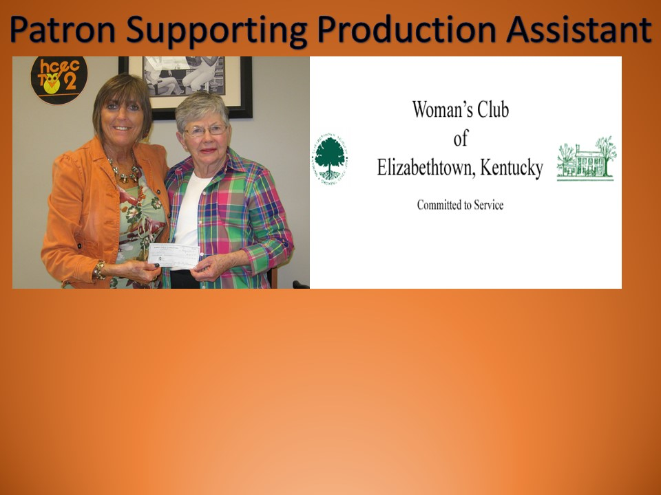 Thanks to Women's Club of Elizabethtown for their Sponsorship!
