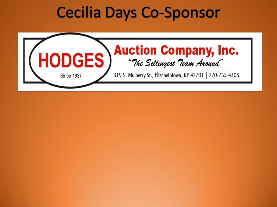 Thanks to Hodges Auction Company, Inc. for their Sponsorship!